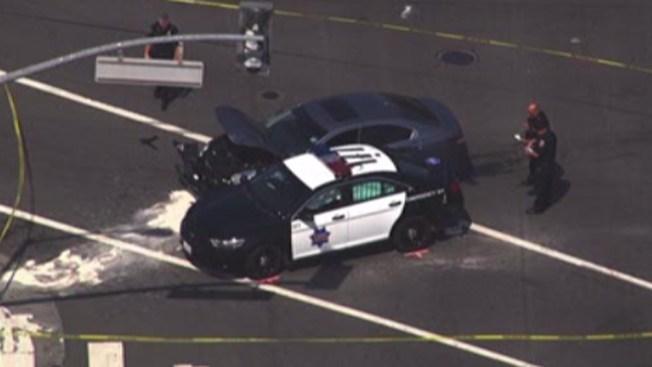 San Francisco: oficial herido en choque