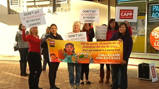 Protestan los préstamos de día de pago