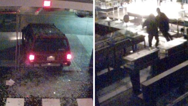 Chocan SUV contra Bloomingdale's y se llevan botín