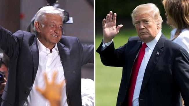 """Trump dice que está """"deseoso"""" de trabajar con AMLO"""