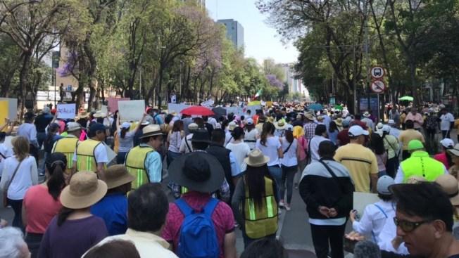Protestas en 24 ciudades saludan los 100 días de AMLO