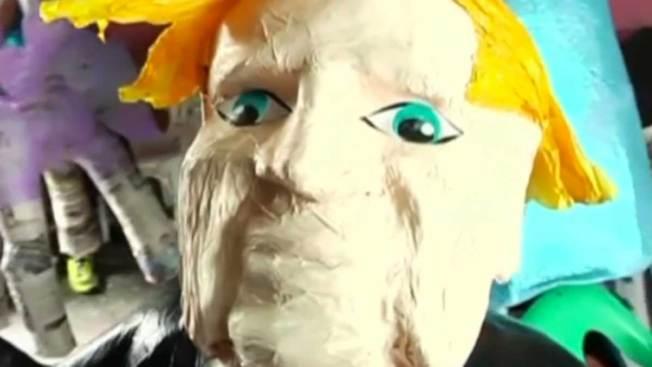 Furor en L.A. por piñatas de Donald Trump