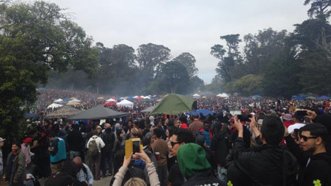 Celebran 4/20 en Golden Gate Park