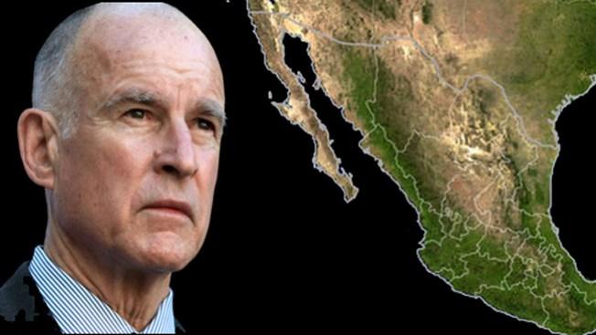 Jerry Brown está por viajar a México
