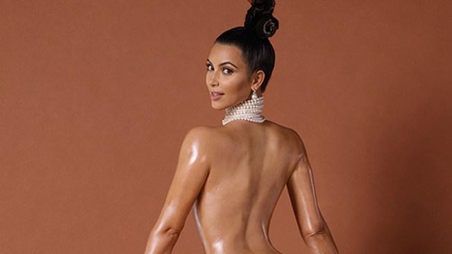 Kim Kardashian con trasero al descubierto