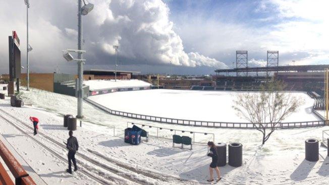 ¡Insólito! Nieve en Phoenix