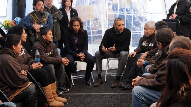 Obama visita activistas pro reforma