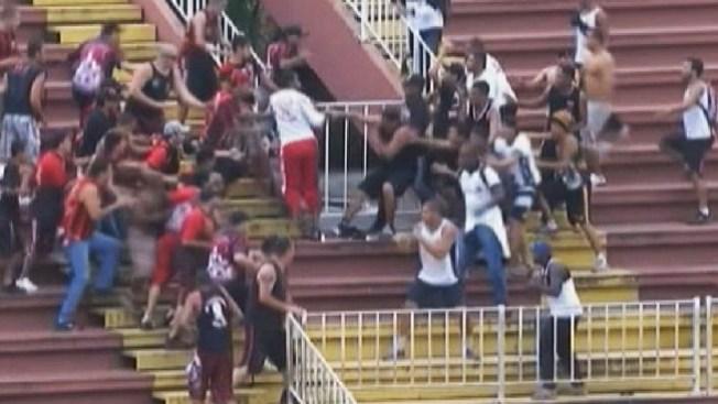 Batalla campal en el futbol brasileño