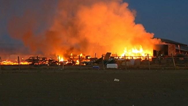Incendio de 3 alarmas en Gilroy