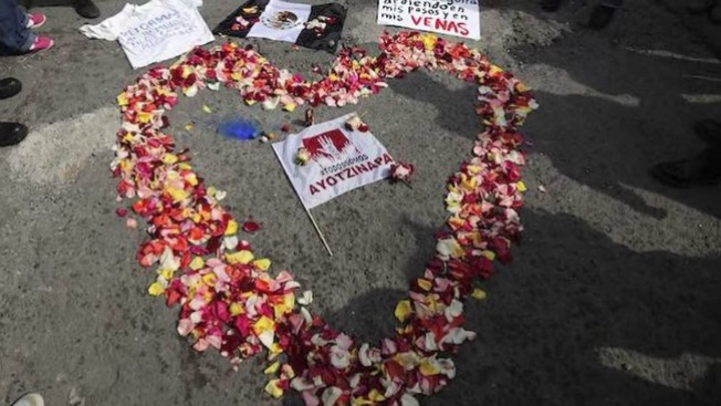 Protestas en EEUU por Ayotzinapa