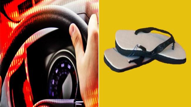 Cuidado al manejar con sandalias