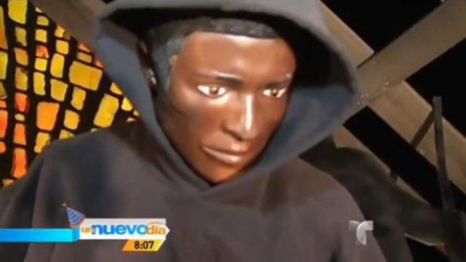 Reemplazan a Jesús por Trayvon Martin