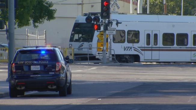 Persona atropellada por tren VTA en San José