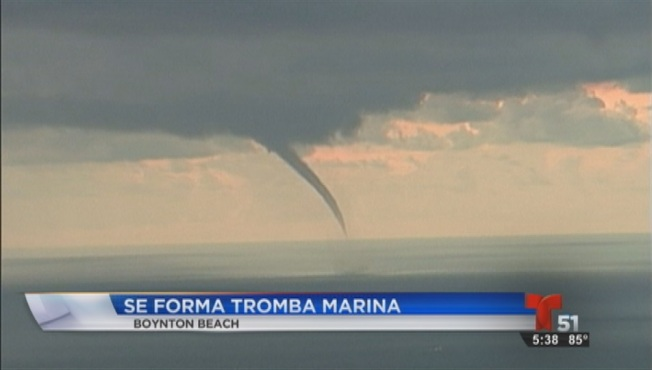 Video: Captan impresionante tromba marina