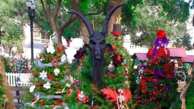 Roban ornamento satánico de árbol de navidad en San José - Telemundo ...