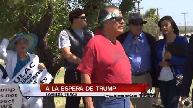 Esperan a que Trump llegue a Laredo